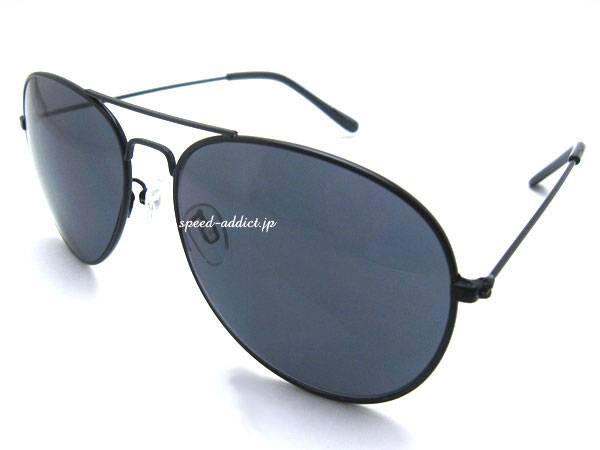 CLASSIC TEARDROP SUNGLASS BLACK ×   SMOKE