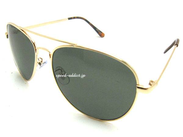 CLASSIC TEARDROP SUNGLASS GOLD ×   GREEN