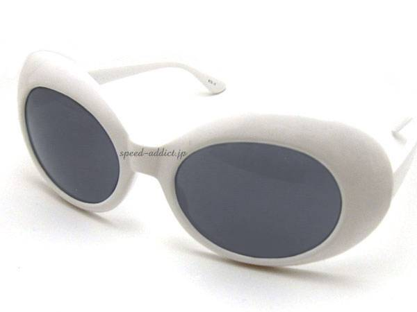 70's DESIGN OVAL SUNGLASS WHITE × SMOKE