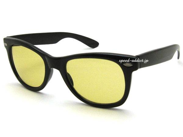 OLD WELLINGTON SUNGLASS BLACK × LIGHT YELLOW