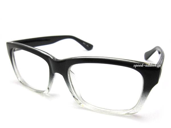SQUARE WELLINGTON SUNGLASS BLACK HALF × CLEAR