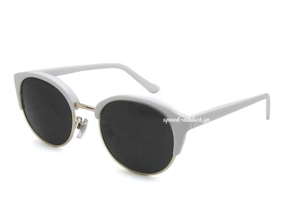 BOSTON BROW SIRMONT SUNGLASS WHITE × SMOKE