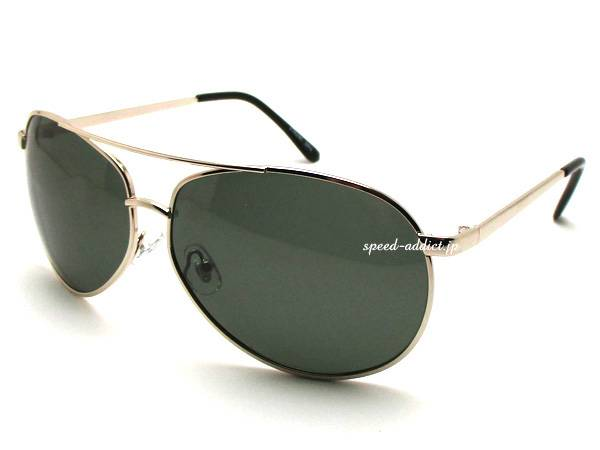 POLARIZED CLASSIC TEARDROP SUNGLASS GOLD × GREEN偏光