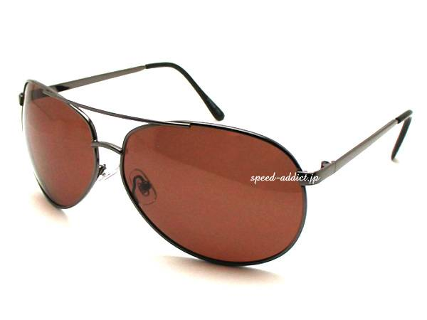 POLARIZED CLASSIC TEARDROP SUNGLASS GUNMETAL× BROWN偏光
