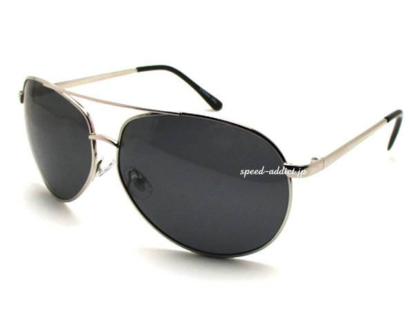 POLARIZED CLASSIC TEARDROP SUNGLASS SILVER × SMOKE偏光