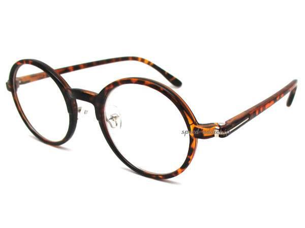 セルフレーム 丸眼鏡 for JAPANESE べっ甲 × CLEAR