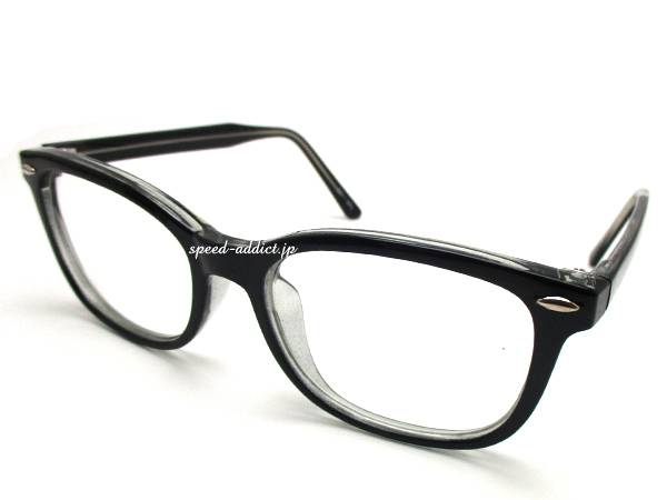 強化SQUARE WELLINGTON SUNGLASS BLACK × CLEAR