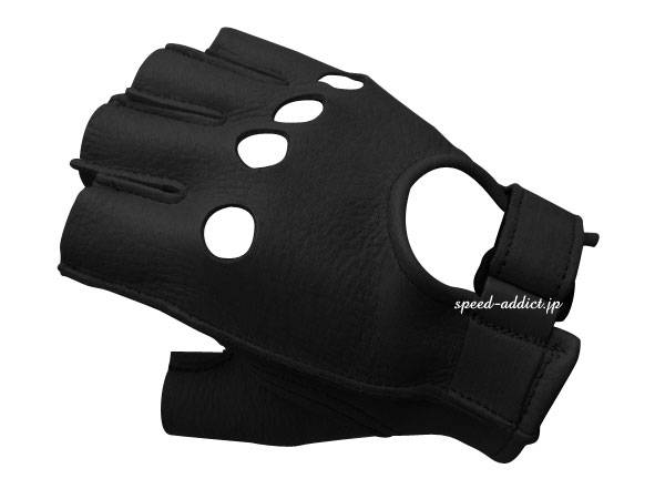 CHURCHILL GLOVE FINGERLESS OT BLACK