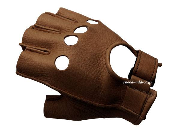 CHURCHILL GLOVE FINGERLESS OT WALNUT