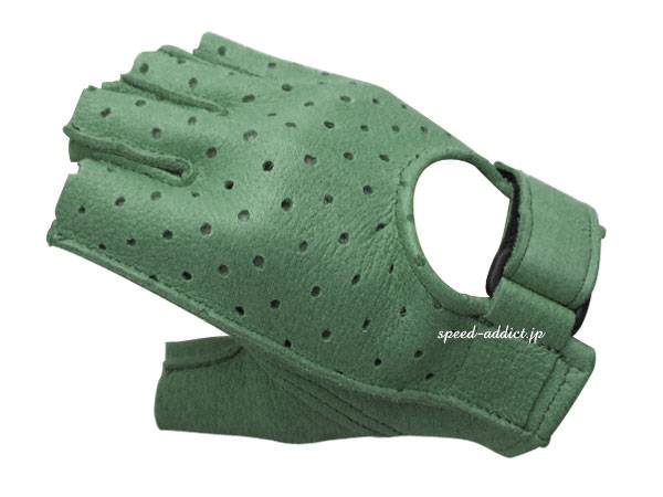 CHURCHILL GLOVE PUNCHING FINGERLESS OTA GREEN