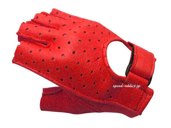 CHURCHILL GLOVE PUNCHING FINGERLESS OTA RED