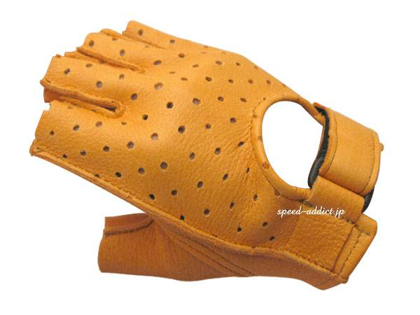 CHURCHILL GLOVE PUNCHING FINGERLESS OTA TAN