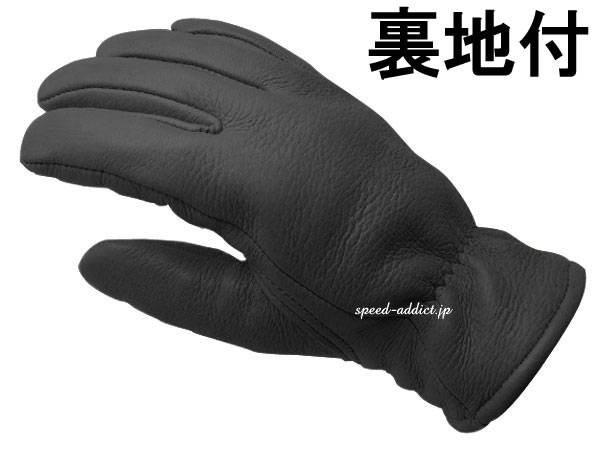 CHURCHILL GLOVE 裏地付 BLACK