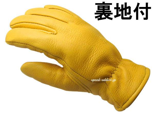 CHURCHILL GLOVE 裏地付 GOLD