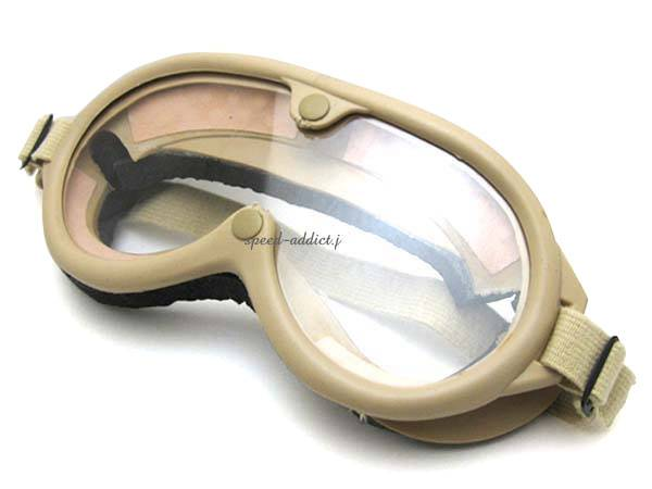 70's VINTAGE ARMY GOGGLE IVORY