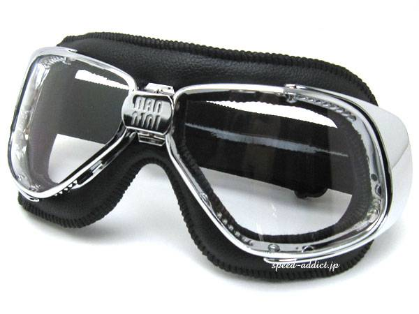 nannini Rider GOGGLE BLACK/CHROME × ANTI FOG CLEAR