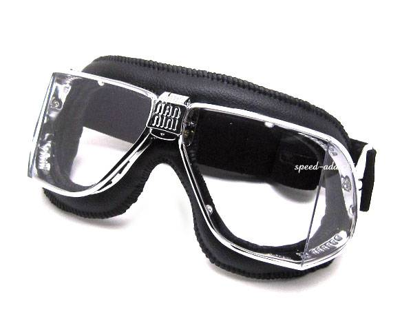 nannini Custom GOGGLE BLACK/CHROME × ANTI FOG CLEAR
