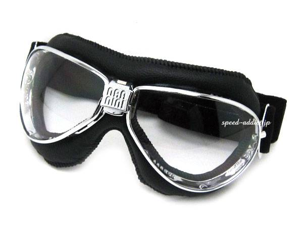 nannini TT GOGGLE BLACK/CHROME × ANTI FOG CLEAR