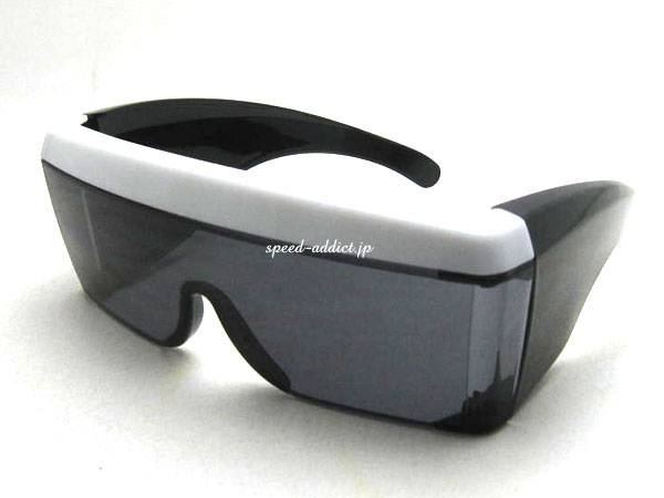 OVER GLASS GOGGLE BLACK/WHITE × SMOKE