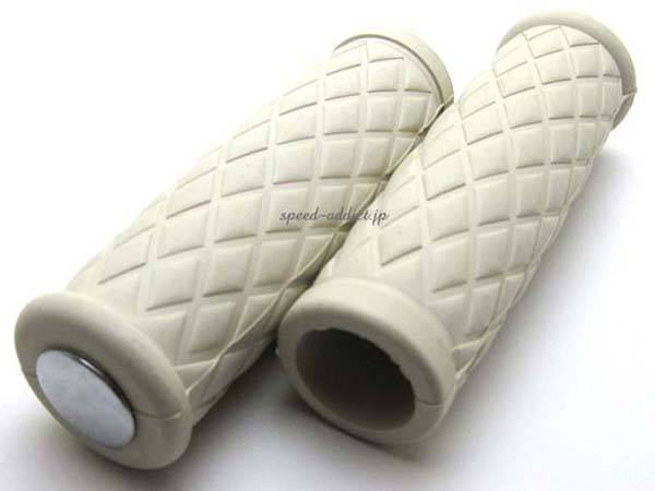 Nice!Motorcycle DIAMOND GRIP WHITE インチバー用