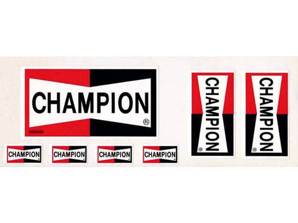 70's VINTAGE CHAMPION Sticker Seat