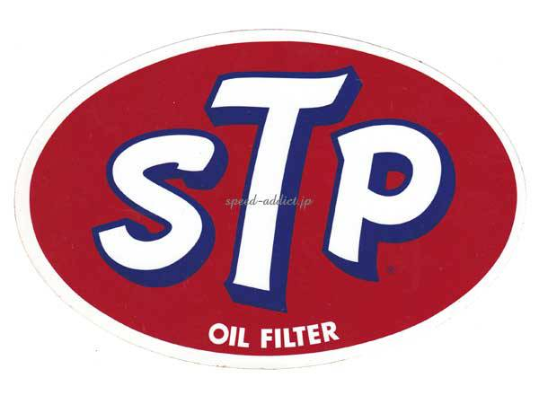 70's VINTAGE STP Sticker OIL FILTER 135mm×200mm