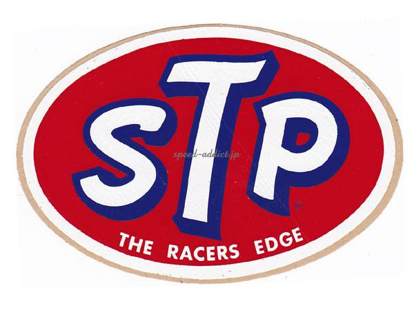 70's VINTAGE STP Sticker THE RACERS EDGE 65mm×100mm