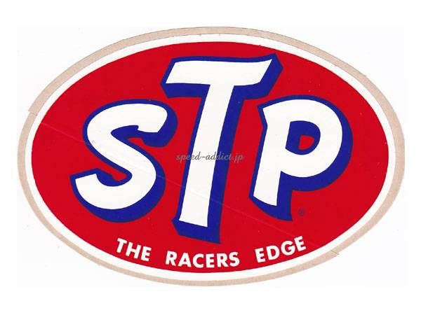 70's VINTAGE STP Sticker THE RACERS EDGE 80mm×115mm