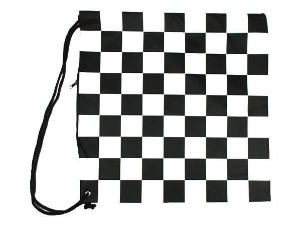 NONWOVEN HELMET BAG ファスナー付 CHECKER