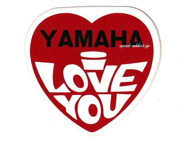 70's VINTAGE YAMAHA I LOVE YOU Sticker 78mm×82mm