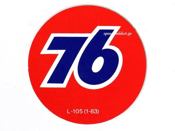 70's VINTAGE 76 UNOCAL Sticker 直径51mm
