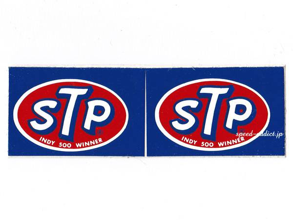 70's VINTAGE STP Sticker INDY 500 WINNER 36mm×56mm(2枚組)