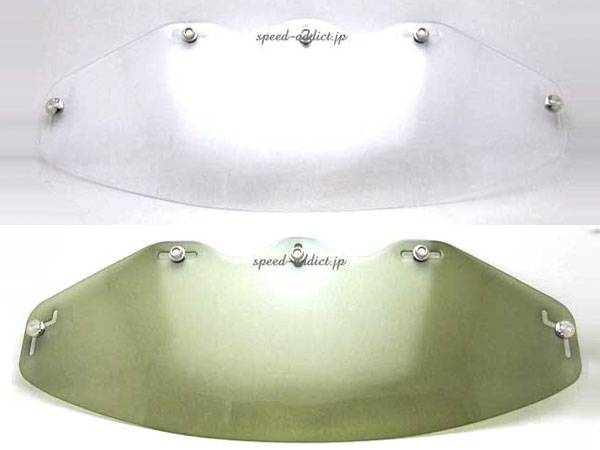 BOB HEATH VISORS FLAT SHIELD CLEAR + SMOKE