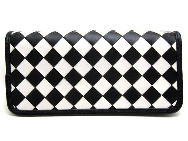CHECKER LONG WALLET WHITE × BLACK