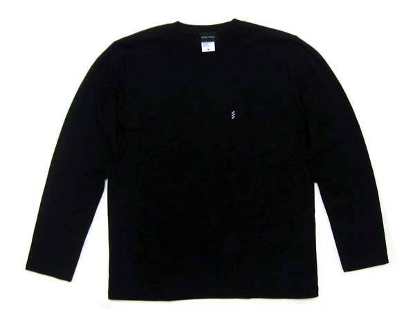 POCKET L/S T-SHIRT BLACK