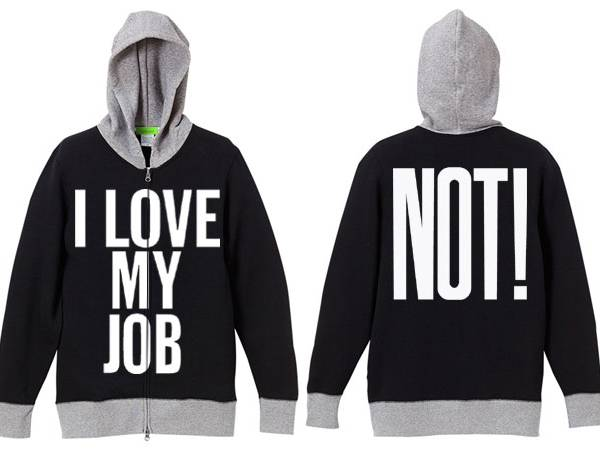 I LOVE MY JOB(NOT!)2TONE PARKA BLACK × GRAY