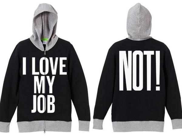 I LOVE MY JOB(NOT!)2TONE PARKA BLACK ×   GRAY