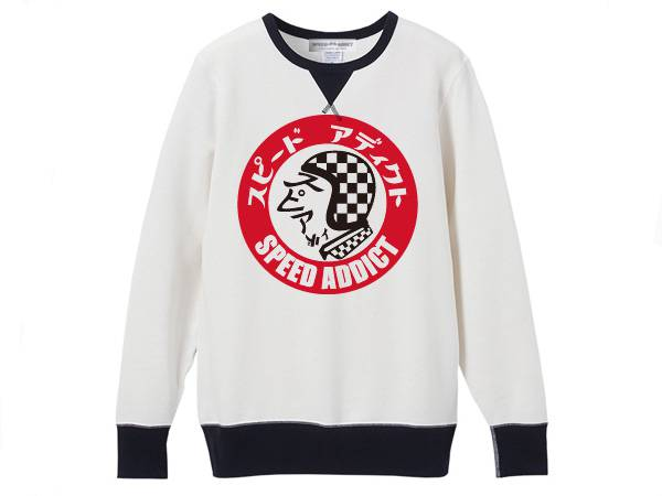 SPEED ADDICT TRADE MARK 2TONE SWEAT WHITE
