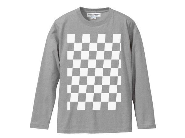 5°CHECKER 染込プリント L/S T-shirt