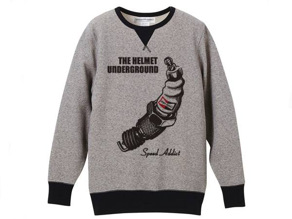 THE HELMET UNDERGROUND VINTAGE SWEAT GRAY