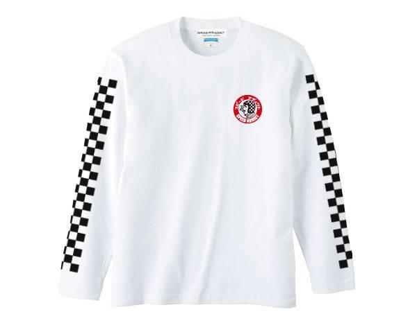 袖CHECKER SPEED ADDICT TRADE MARK L/S T-shirt