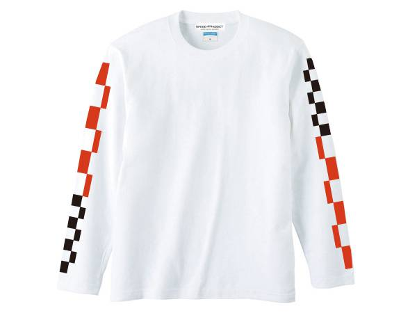 袖CHECKER & STRIPE L/S T-shirt