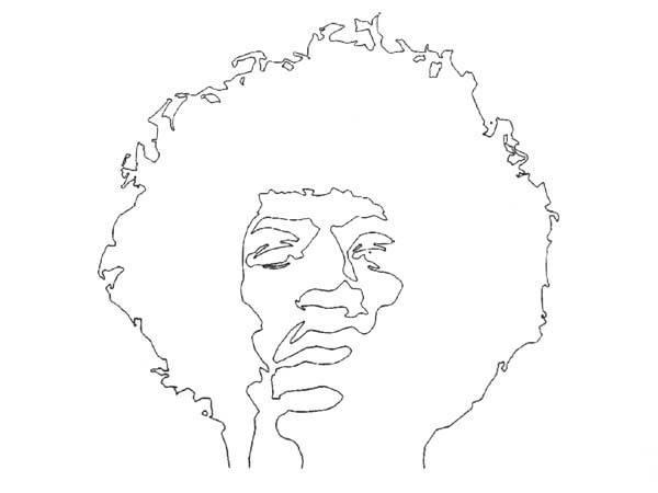 stencil JIMI HENDRIX T-SHIRT WHITE