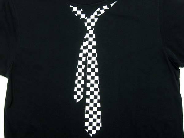 だまし絵 CHECKER ネクタイ T-SHIRT