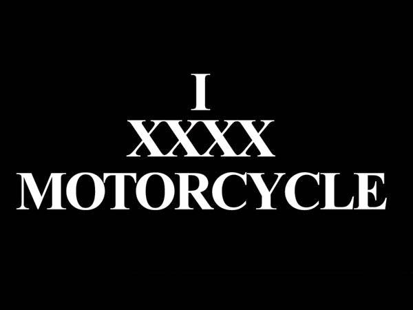 I XXXX MOTORCYCLE T-SHIRT BLACK