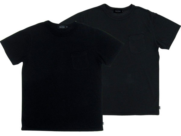 30's DESIGN POCKET T-SHIRT 2pc SET BLACK/CHARCOAL