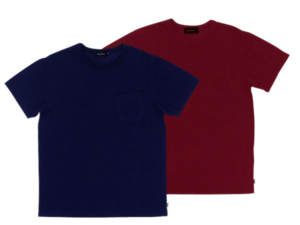 30's DESIGN POCKET T-SHIRT 2pc SET DEEP PURPLE/WINE RED