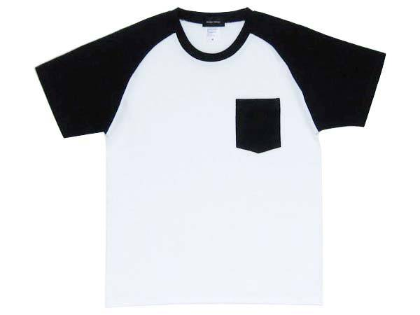 MONOTONE POCKET T-SHIRT WHITE×BLACK