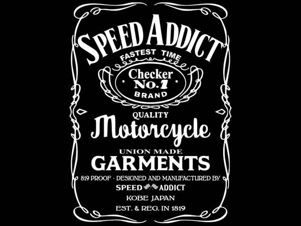 "SPEED ADDICT ""JACK DANIEL'S"" POCKET T-  SHIRT"