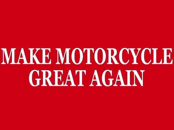 MAKE MOTORCYCLE GREAT AGAIN T-shirt RED